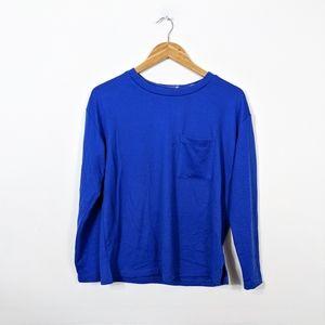 3/15 Sanctuary Blue Long Sleeve Pocket Sweater